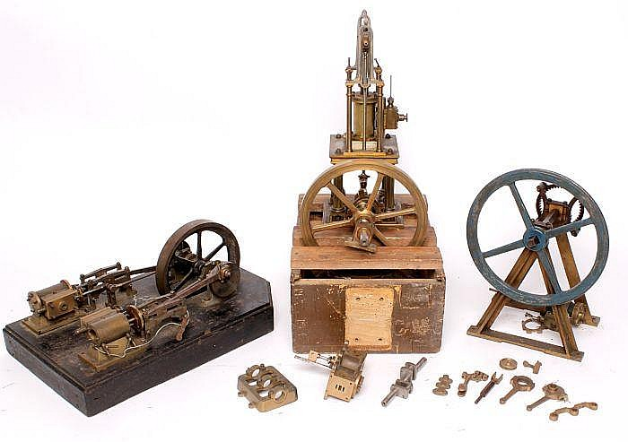 Four part-built and dismantled live steam model
