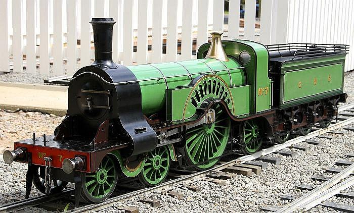 An exhibition standard 7 ¼ inch gauge model of a