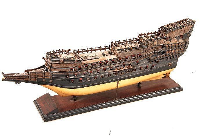 A static model of the hull of the 17th century