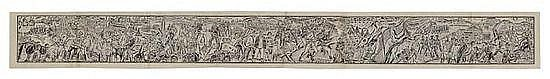 Significant Domestic Events, panoramic woodcut,