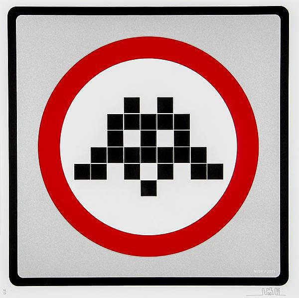 ARR Invader (French, b.1969), Warning Invader