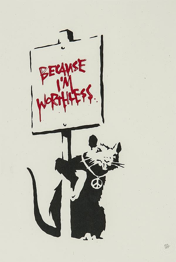 ARR Banksy (British, b.1975), Because I'm