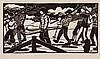 Lill Tschudi (1911-2004) - Boys with Skis (C.LT.78)