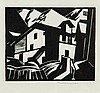 Leonard Beaumont (1891-1986) - Swiss Mountain Village