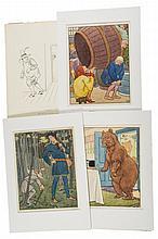 L.L.B. [Brooke (Leonard Leslie)] - Collection of original artwork,