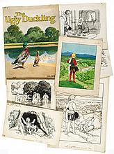 Hassall (John) - Collection of original artwork,