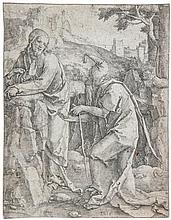 Lucas van Leyden (1494-1533) - Temptation of Christ,