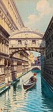 Camillo Bortoluzzi (1868-1933) - The Bridge of Sighs, Venice,