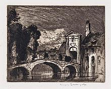 Sir Frank Brangwyn (1867-1956) - The Bridge, Bruges,