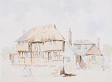 James Stark (1794-1859) - Sketch of the old workhouse, Steyning,