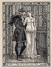 Walter Crane (1845-1915) - Shakespeare, The Merry Wives of Windsor, in VIII Pen Designs by Walter Crane,