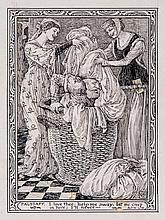 Walter Crane (1845-1915) - Falstaff: I love thee, help me away, let me creep in here, I'll never - ,