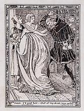 Walter Crane (1845-1915) - Ford: I'll prat her - Out of my door, you witch,
