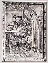 Walter Crane (1845-1915) - Falstaff: But what says she to me? be brief, my good she-Mercury,