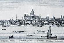 Samuel and Nathaniel Buck - Panorama of the Thames from Westminster Bridge to London Bridge,