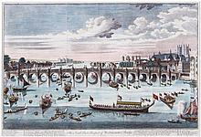 Benjamin Cole (c.1697-1783) - The South East Prospect of Westminster Bridge,