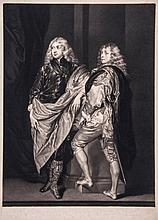 Van Dyck .- James McArdell (1729-1765) - Lord John & Lord Bernard Stuart Sons of Esme Duke of Lenox