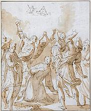 Attributed to Gugliemo Caccia, called Moncalvo - The Stoning of St Stephen,