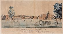 Robert Havell (1769-1832) - View of Taplow, from Maidenhead Bridge,
