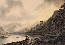 English School (19th century) - Lakeland Scene,