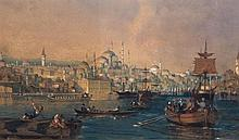 English School (19th century) - Harbour view of Constantinople,