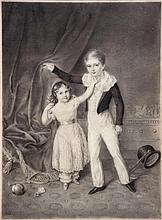 Melchior Gommar Tieleman (1784-1864) - TRH Prince George and Princess Augusta of Cambridge,
