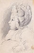 George Richmond RA (1809-1896) - Study of the artist's infant son, T.R. Richmond,