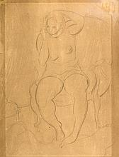 Sir Matthew Smith (1879-1959) - Seated female nude,