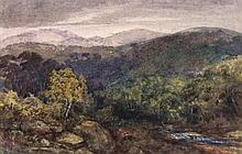 Attributed to David Cox the Elder - Welsh landscape,