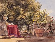 Thomas Hartley Cromek (1809-1873) - The Boschetto at the Villa Muti at Frascati,