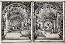Stefano della Bella (1610-1664) - The Inhabited Tree; Alley of Fountains; Two Views of a Grotto,