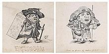 Emily Eden (c.1797-1869) - A pair of caricatures,