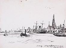 Sir Muirhead Bone (1876-1953) - Antwerp,