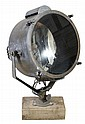 An English gunmetal and glazed ship's searchlight,