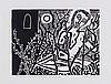 Edward Bawden (1903-1989) - Sir Lancelot Was As Wild Mad As Ever Was Man