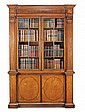 A George III satinwood bookcase, circa 1790, in