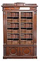 A George III pine and oak bookcase, circa 1760,