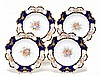 Four Royal Crown Derby dessert plates, each