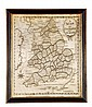 Mary Rogers, 1792, a map of England and Wales, the