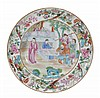 A Chinese famille rose Canton saucer dish