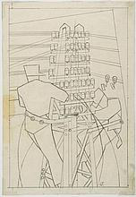 Lill Tschudi (1911-2004) - Fixing the Wires (See. C.L.T.26)