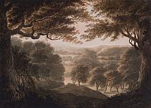 English School (19th Century) - Three views in Windsor Forest,