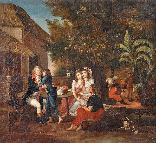 South American School (18th century) Casta scenes