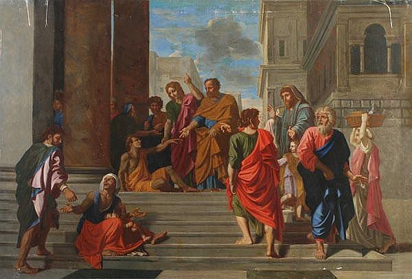 After Nicolas Poussin St. Peter healing a sick man
