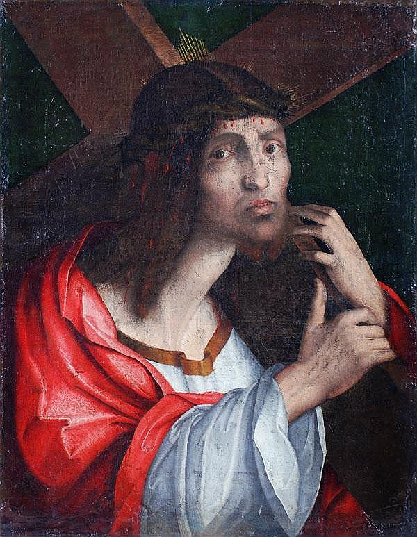 Venetian School (17th century) Christ carrying the
