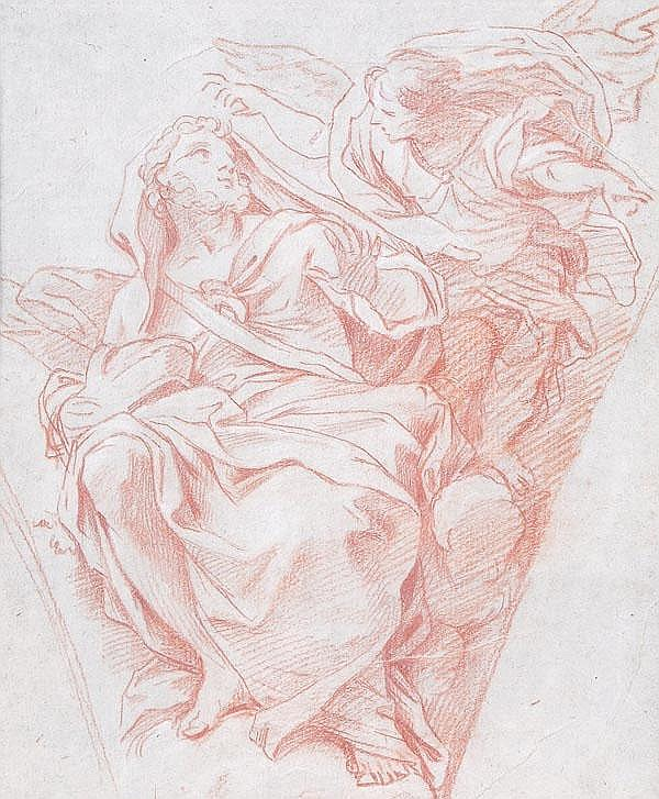 Italian School (18th century) A prophet and angel