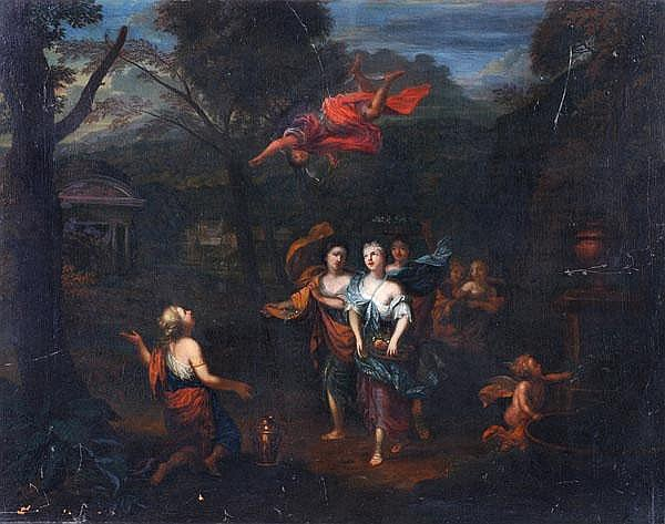 Follower of Gerard Hoet the Elder Mercury guiding