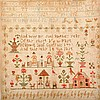 A William IV embroidered sampler, dated 1834,
