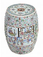 A Chinese famille rose garden stool, 19th century,