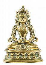 A Sino-Tibetan copper alloy or brass figure of